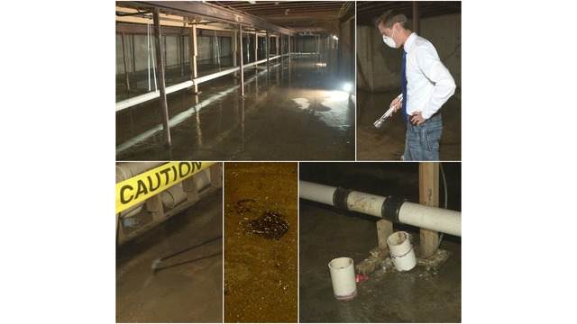 Photos: Raw Sewage Cleanup At Apartment Complex