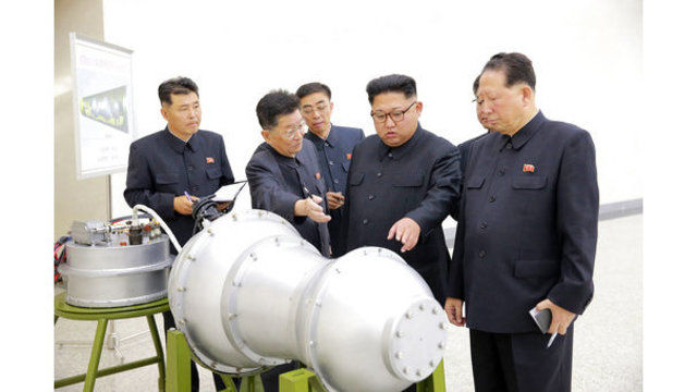 North Korean leader inspects new H-bomb