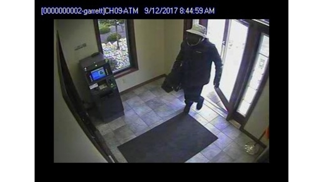 Garrett Beacon Credit Union robbery suspect surveillance_282874