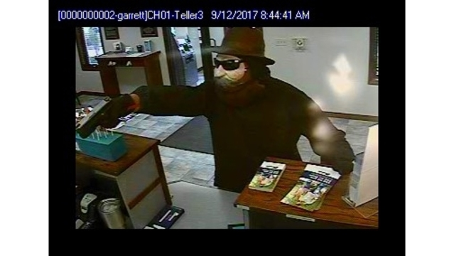 Garrett Beacon Credit Union robbery suspect surveillance_282868