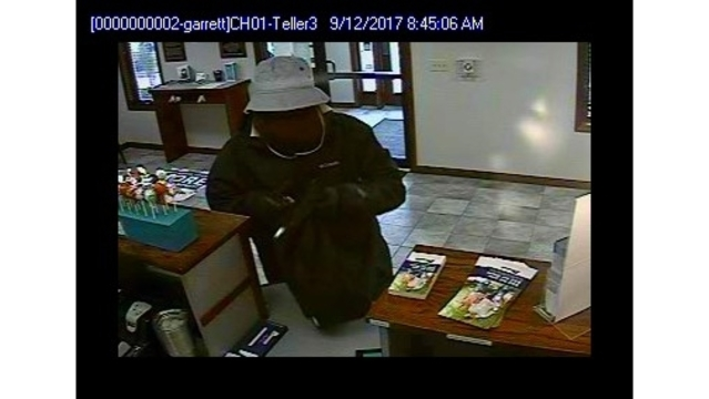 Garrett Beacon Credit Union robbery suspect surveillance_282869