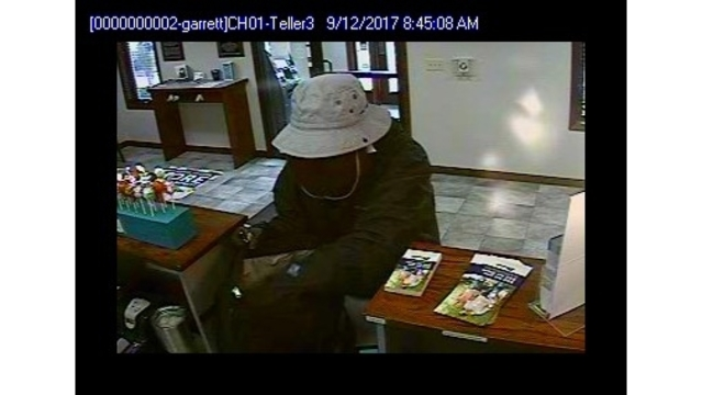 Garrett Beacon Credit Union robbery suspect surveillance_282876
