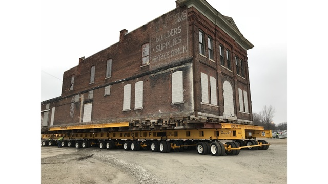Historic downtown building makes its move