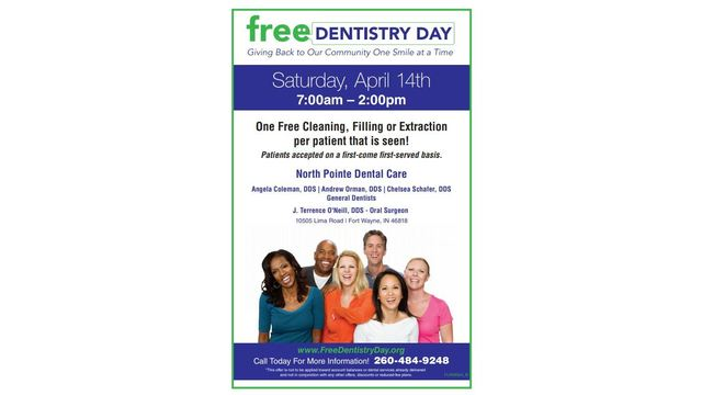 North Pointe Dental care offers free service on April 14