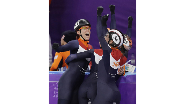 South Korea wins penalty-filled 3,000 relay in short track