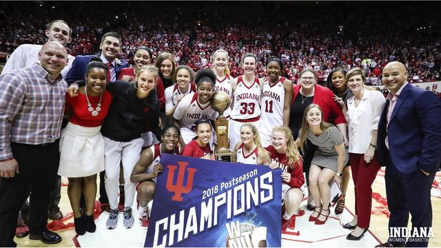 IN wins WNIT title in front of Assembly Hall record crowd