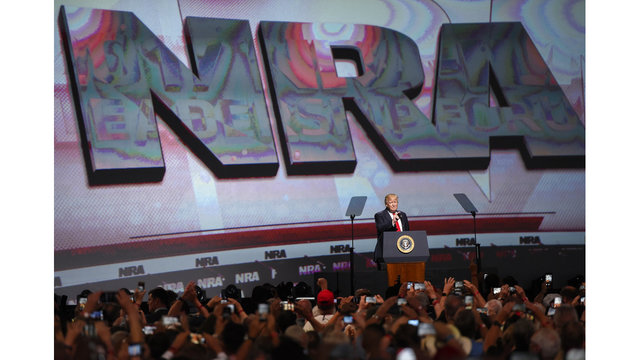 Protesters gather as NRA members meet in Dallas