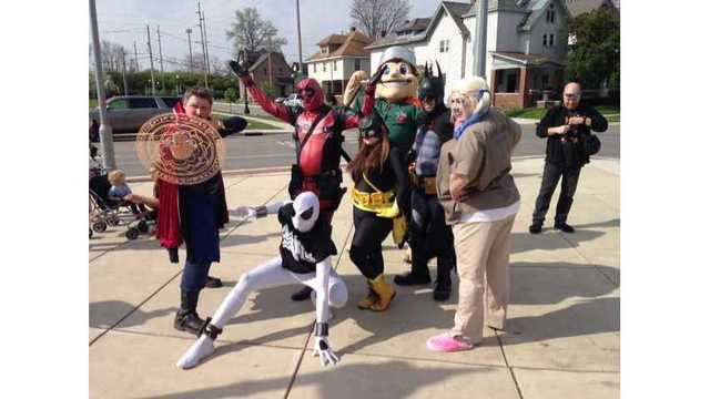 Superheros at Parkview Field for 22nd annual AIDS Walk