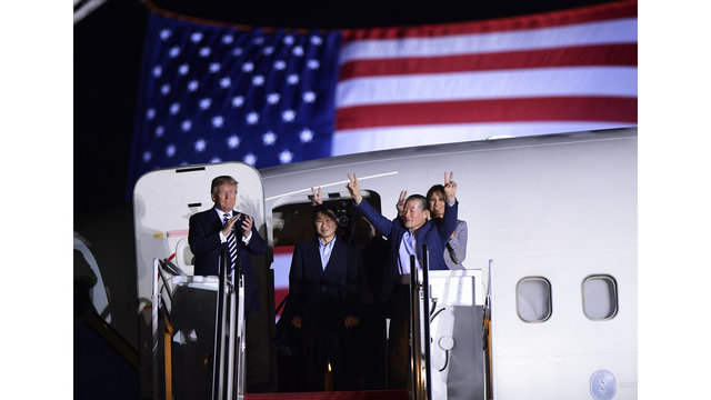 Trump welcomes freed Korean-Americans' return to US