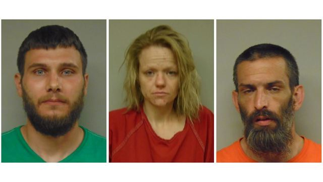 Police find heroin, meth during traffic stop; 3 arrested