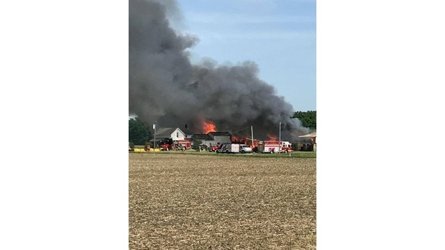 Firefighters struggle to put out pallet fire in Bluffton