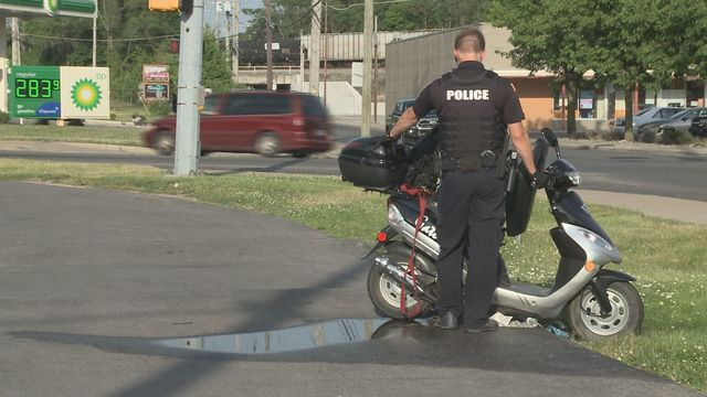 1 person seriously hurt in car versus moped crash