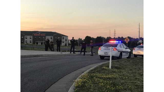 One person hurt in motorcycle crash