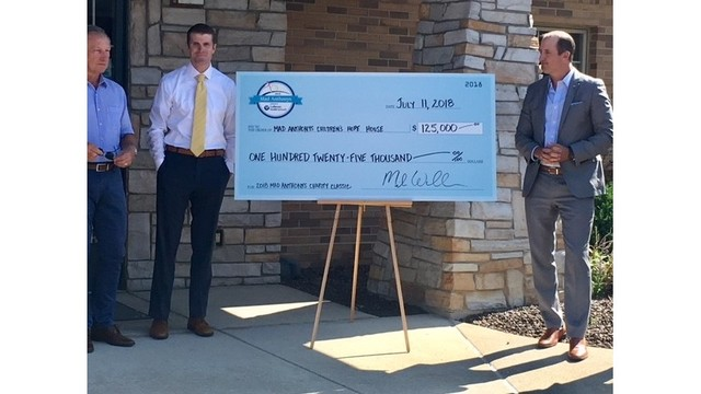 $125,000 check presented to Mad Anthonys Children's Hope House
