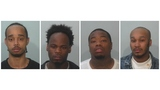 Guns and drugs found during raid at known gang house&#x3b; 4 arrested