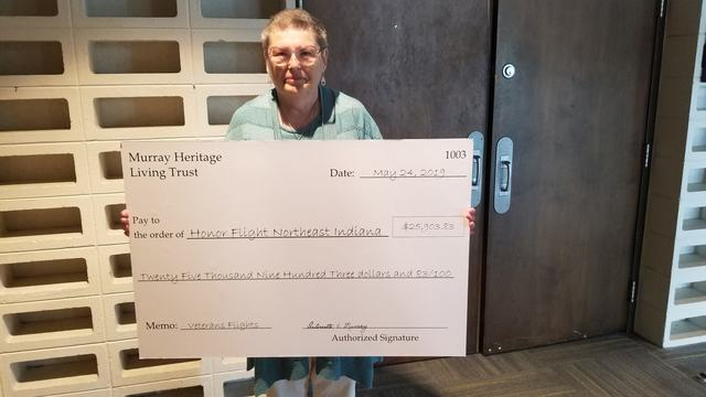 Fort Wayne woman to donate 25K check annually to Honor Flight